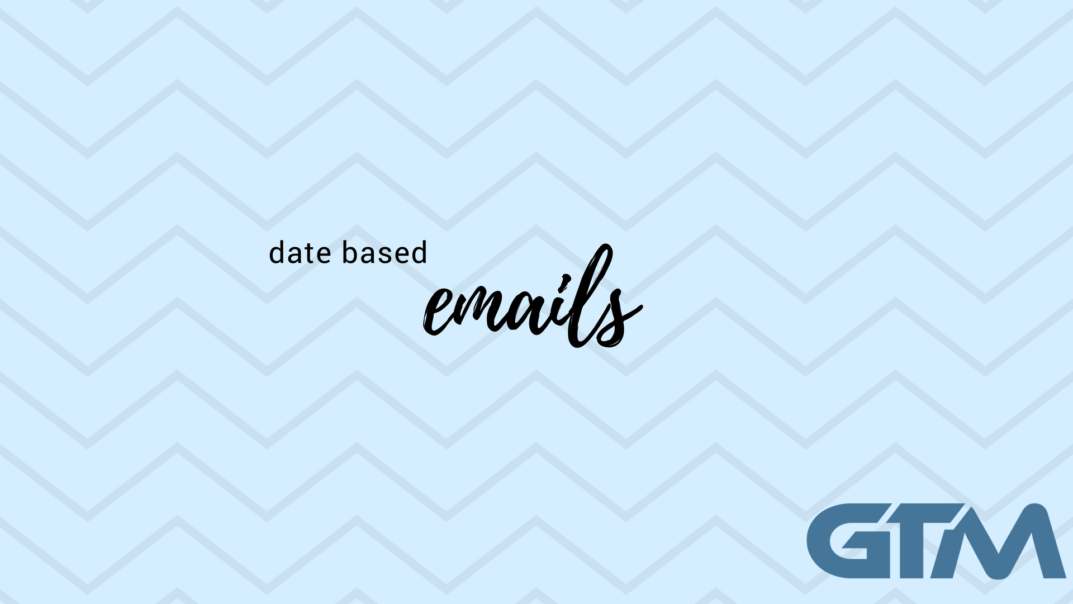 date based emails in drip